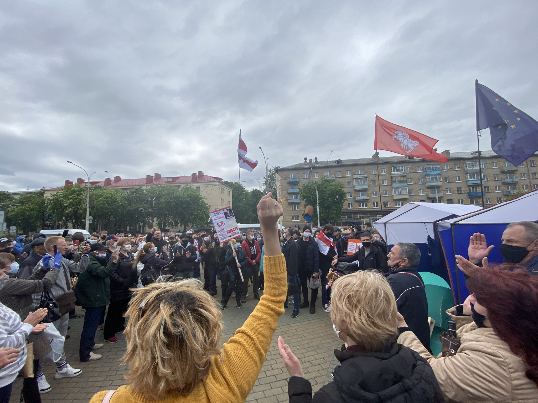 demostrace Bělorusko