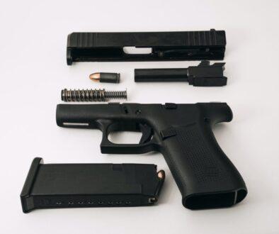 black semi automatic pistol with pistol