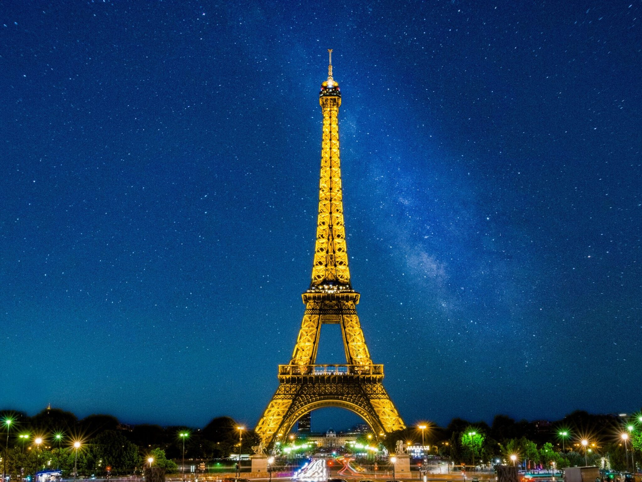 eiffel tower under blue sky during night time